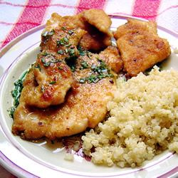 Chicken breast with lime sauce.. fast, with few ingredients. This was ...