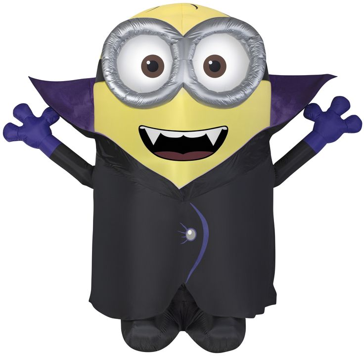 8' Airblown Giant Gone Batty Minion Halloween Inflatable
