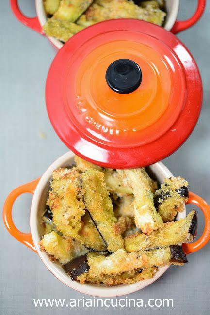 Bastoncini di melanzane croccanti cotti al forno