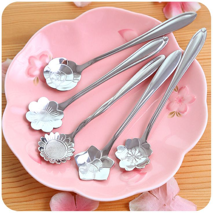 Stainless Steel Floral Spoon - Momoi | YESSTYLE