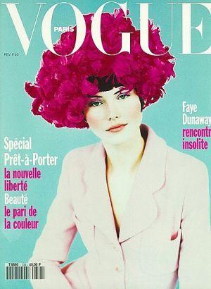 Vintage Vogue magazine covers - mylusciouslife.com - Vogue Paris February 1993 - Janine Giddings.jpg