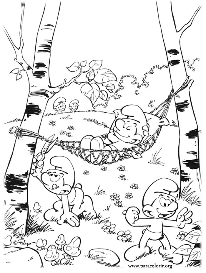 the smurfs coloring page - Fun Color Sheets