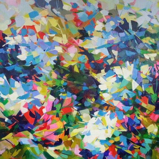 "From the ""Fractured"" series, oil on canvas, 92cm square. Jenni Stringleman www.jenninz.weebly.com"