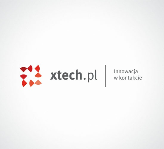 We created a timeless and dynamic logo for xtech.pl. In the logo we used gradients to emphasize modernity and innovation, what is more, we based the brand architecture on variable colors. #logo #branding www.papajastudio.pl