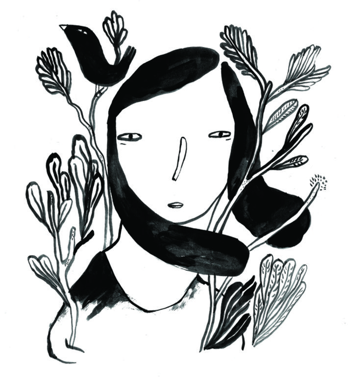 """growing flowers"". ink on paper. Digital print on white paper 280 gr. size A3 ( 42x29,7) You can buy this piece here: www.artrebels.com #artrebels #blackandwhite #art"