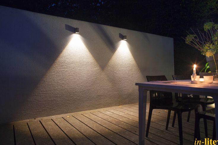 Tuin muur wandlamp ace down buitenverlichting 12v inspiratie outdoor lighting in - Buitenverlichting design tuin ...