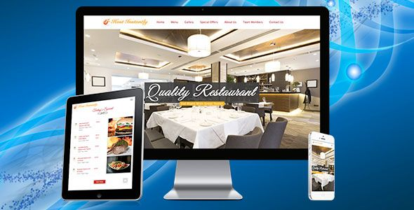 awesome Restaurant Responsive Drag&ampDrop Web page Builder (PHP Scripts)