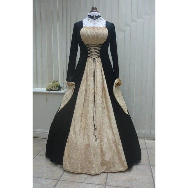 LOTR MEDIEVAL PAGAN DRESS ($99) via Polyvore featuring dresses