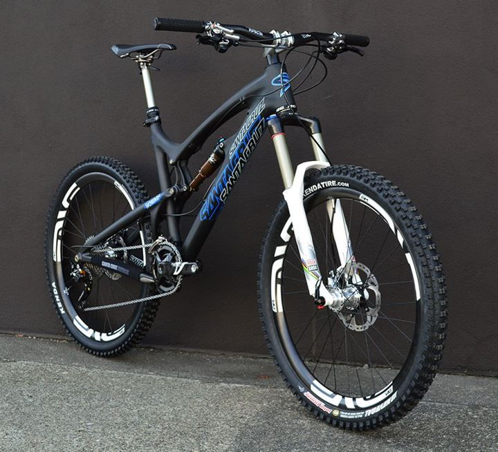 Santa Cruz Nomad Carbon. I have no business riding a bike like this now, but hopefully I'll be ready for it soon.