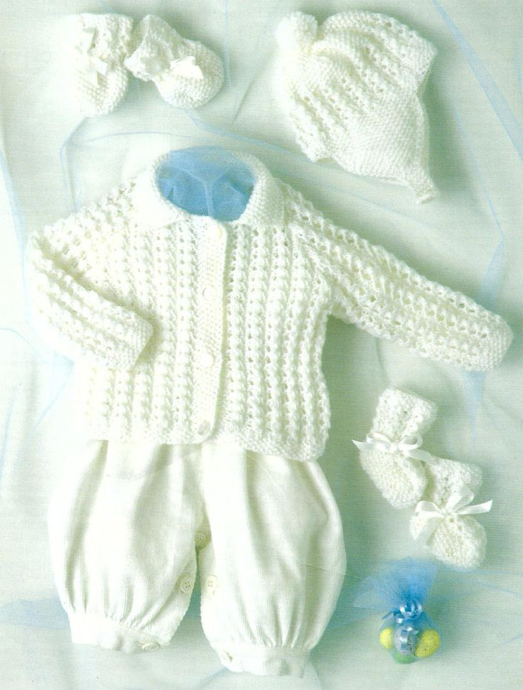 PDF Instant Digital Download baby jacket hat mittens bootees knitting pattern 14 to 22 inch (620) by PatternsFromDaisylin on Etsy