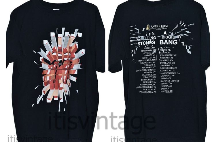 2005 Rolling Stones A Bigger Bang Concert Tour Anvil 100% Cotton Medium T Shirt | Clothing, Shoes & Accessories, Men's Clothing, T-Shirts | eBay!