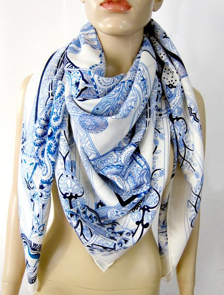 Cashmere Silk Scarf - faded love silk scarf by VIDA VIDA fThaT