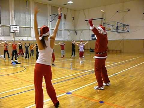 Merry christmas everyone Zumba Christmas party with santa - YouTube