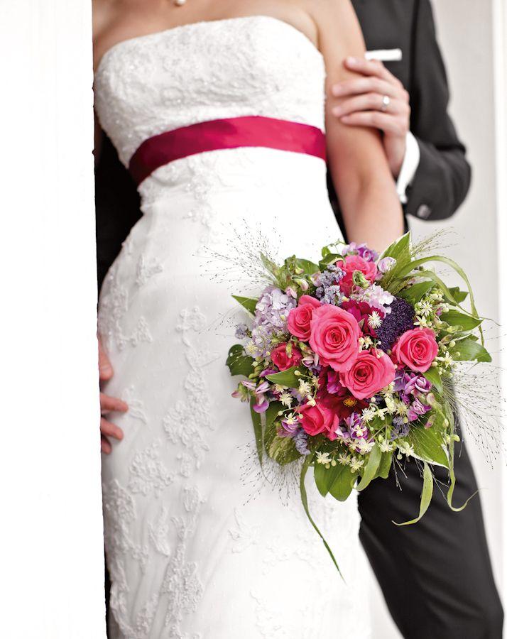 mehrfarbiger Brautstrauß Pink Flieder Weiß