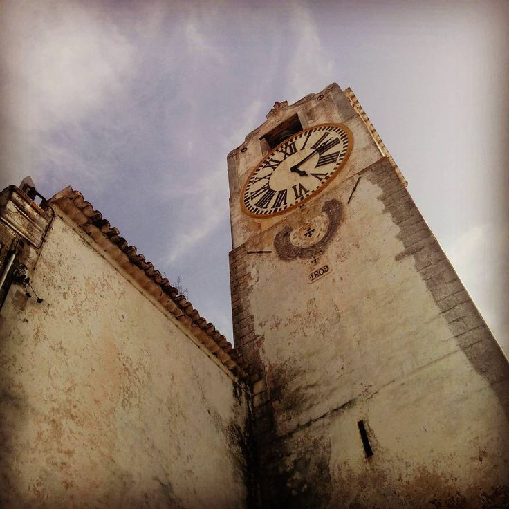 Clock tower on the church on the hill in tavira.... #tower #clock #tavira #portugal #hours #church