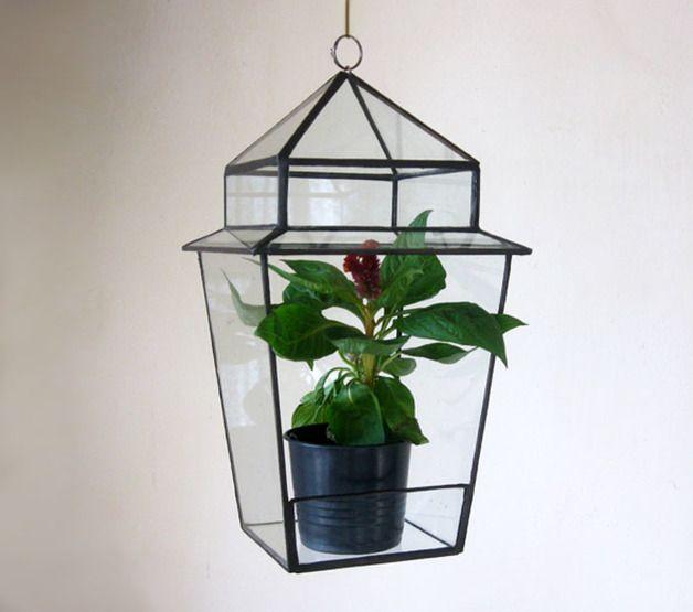 Planter Glass Terrarium/Stained Glass Terrarium/Glass By MyVitraz