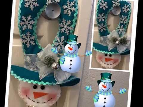 Decoracion navideñas para la puerta (Picaporte)