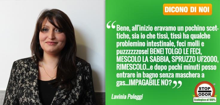 La recensione di Lavinia su StopOdor UF2000.