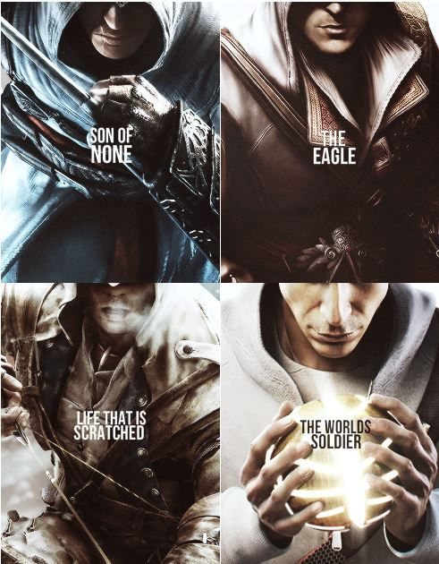 The meanings behind the names for Altair, Ezio, Connor, and Desmond.