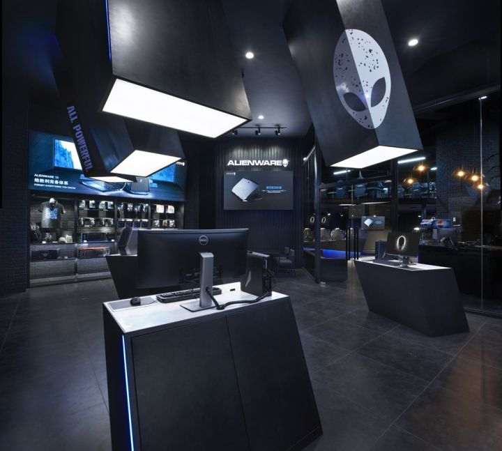 Alienware theme store and internet café by Gramco, Kunming ...