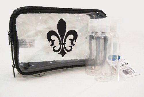 Medium Clear Cosmetic Bag Fleur De Lis Print by The Clear Bag Store. $16.95. Stylish, Make up Bag. One of a kind,Health and personal care, arts, crafts & sewing, Clothing and accessories, beauty. Transparent. Quality. Cosmetic bag. Whether you are at home, at the gym, around the corner or around the world, you cannot be without your most important toiletries or cosmetics. Made from sturdy, ultra-clear PVC, our durable, one of a kind Clear Cosmetic Case design mak...