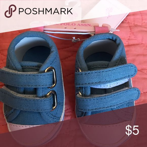 Baby Polo Shoes Light pink and baby blue Polo shoes. Size 1. NWT U.S. Polo Assn. Shoes Sneakers