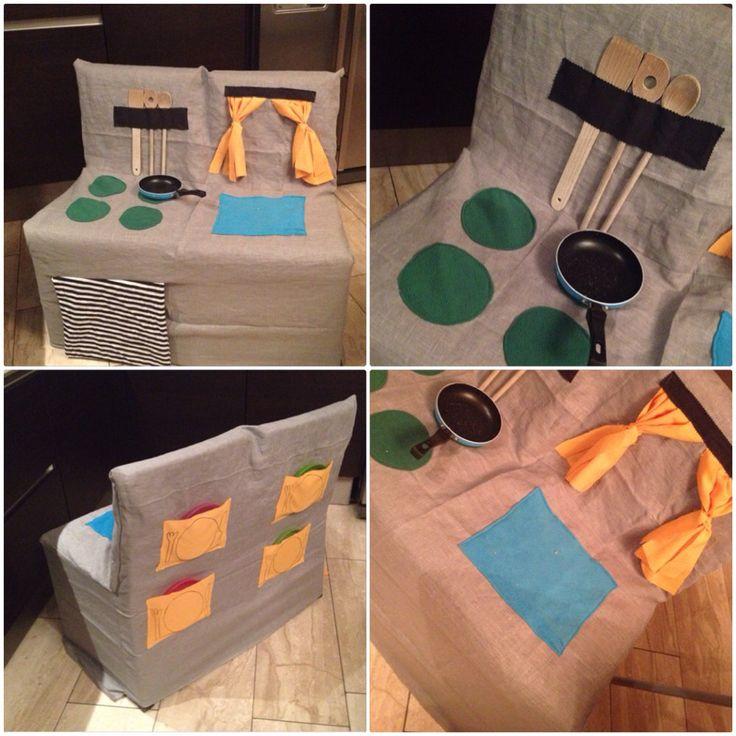 Stoel keuken. Chair kitchen with oven   Play kitchen