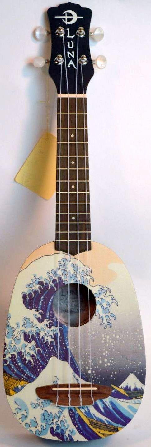 Luna Great Wave Pineapple Soprano Ukulele --- https://www.pinterest.com/lardyfatboy/