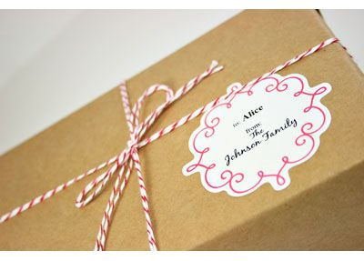 Scrolly Square Labels from Sweet Sticky's Labels with downloadable templates