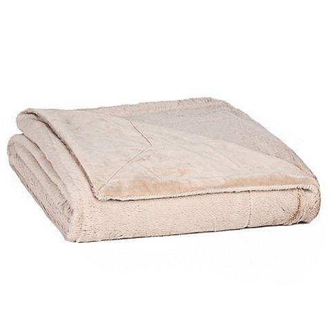 Berkshire Blanket®  BunnySoft Plush Throw Blanket in Cuban Sand