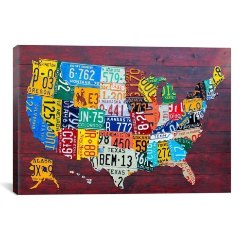 Best USA Images On Pinterest States Travel And Welcome To - Us map license plate puzzle