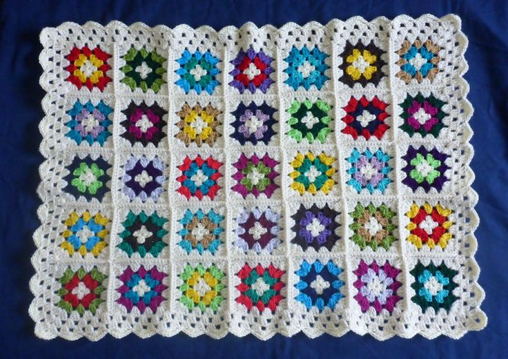 Exquisite Baby Cover Blanket Pram Crib Buggy Car Seat Colourful Granny Squares
