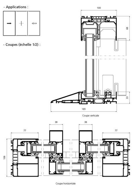 porte fen tre coulissante 2 vantaux 1 fixe central avec seuil pmr in 2019 sliding door track