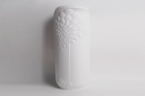 XXL 55 cm Rare German Porcelain Op Art Floor Vase - Michaela Frey 1970s for Kaiser on Etsy, $685.00