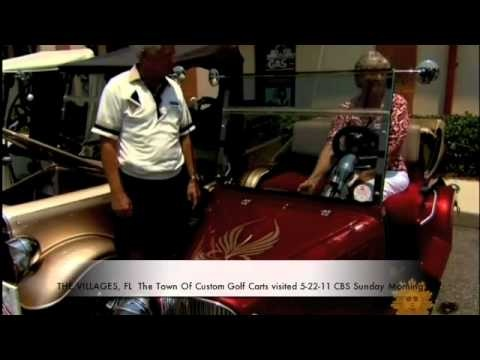 The VILLAGES Fl - Town of Custom Golf Carts 5-22-11 CBS Sunday Morning