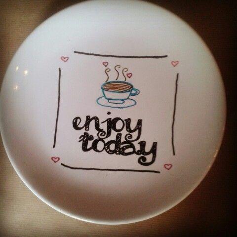 Crea ontbijtbord #DIY #creatief #creative #porcelainpainting #porseleinverf
