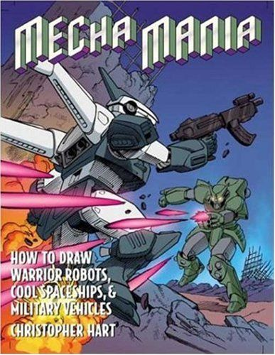 Mecha Mania: How to Draw Warrior Robots, Cool Spaceships, and Military Vehicles (Christopher Hart Titles) by Christopher Hart http://www.amazon.com/dp/0823030563/ref=cm_sw_r_pi_dp_OEXEub0H28WFR
