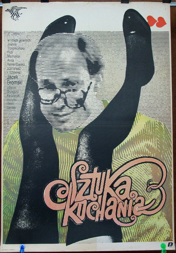 Art of Loving - Polish 1989 film by Jacek Bromski. Polish oryginal 1989 poster by Krzysztof Konopelski. Comedy. Sexlogist. Womanizer