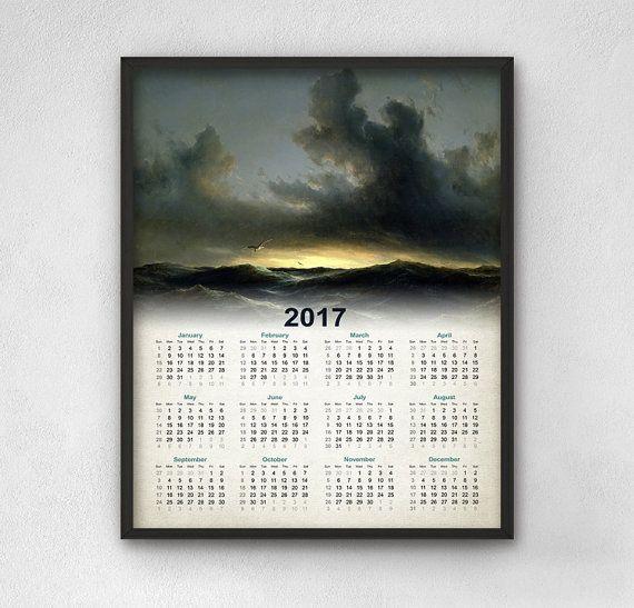 Marine Calendar 2017  Albatross Bird Calendar by QuantumPrints