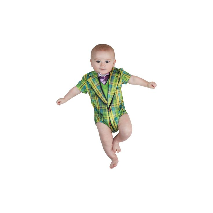 Halloween Baby Boys' Plaid Suit Romper Costume - (3-6 Months), Size: 3-6 M, Green
