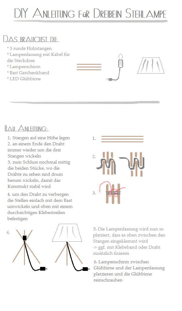 Great DIY Tripod Lamp Dreibein Lampe