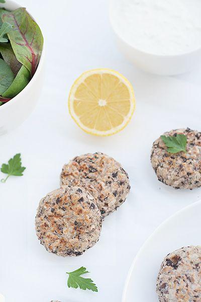 Ricetta Polpette di riso integrale e fagioli neri con tzatziki