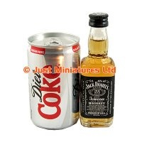 Mini jack daniels and diet coke for southern comfort party
