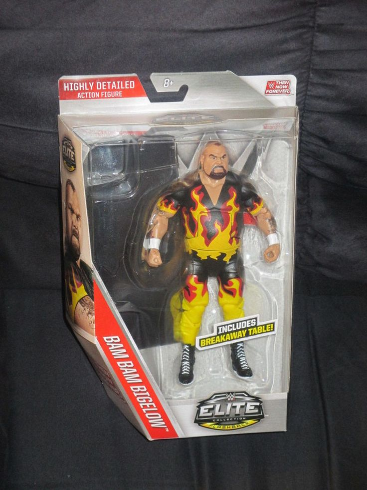 Bam Bam Bigelow WWE Then Now Forever Mattel Elite Collection Flashback Figure #Mattel