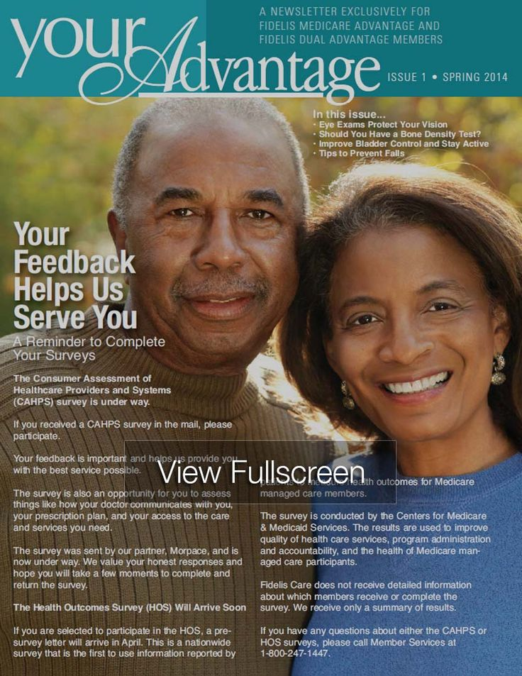 Spring 2014 Issue of Your Advantage, the Fidelis Care