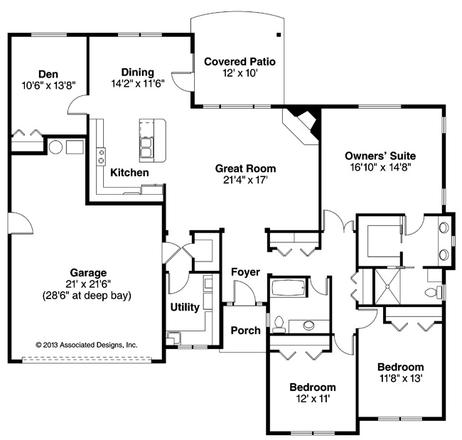 17 Best Images About 3 Bedroom House Plans On Pinterest