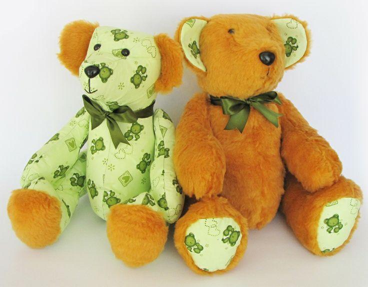 #66 & #67 - Green Furry i-Bears FOR SALE  #TeddieBears #Teddy #Bears