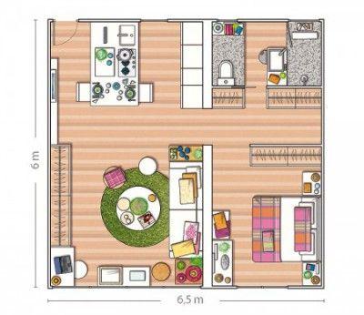 1000 ideas about plan appartement on pinterest studio apartments appartem - Plan amenagement studio 30m2 ...