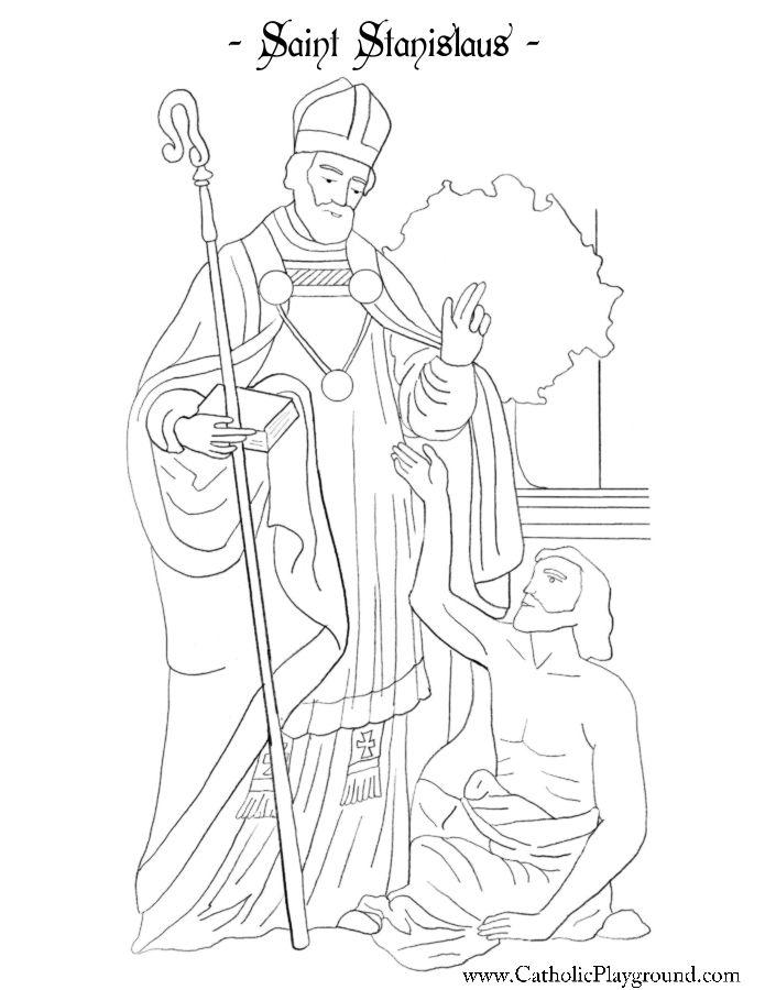 Saint Stanislaus Coloring Page Catholic Playground Catholic