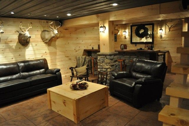 15 Outstanding Rustic Basement Design